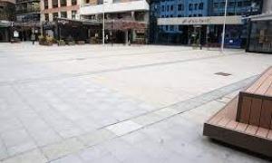 La plaça Coprínceps a Escaldes.