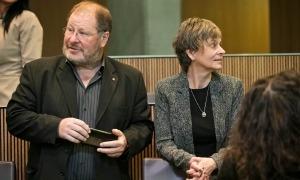 Jordi Font i Susanna Vela en una imatge al Consell General.