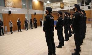 Un moment de la cerimònia d'obertura de la 55a promoció d'agents de la policia.