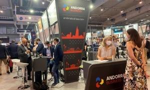 L'estand d'Andorra al Mobile World Congress.