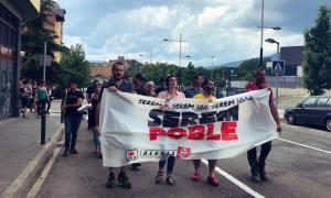 Manifestació de suport a les set persones que van ser encausades.