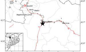 Mapa on es pot veure l'epicentre del terratrèmol.