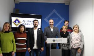 L'equip municipal en la presentació dels pressupostos per a l'any vinent.