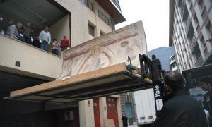 frescos andorra santa coloma romànic