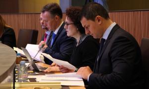ANA/ El conseller general de Liberals d'Andorra (L'A), Jordi Gallardo, durant la sessió ordinària de Consell General.