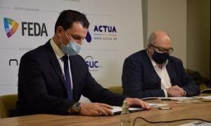 El ministre de Presidència, Economia i Empresa, Jordi Gallardo, durant la seva intervenció en la inauguració de la jornada Inntec.