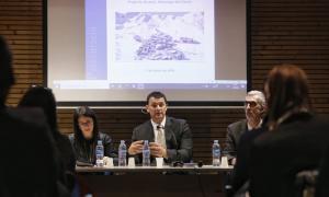 El ministre, Jordi Gallardo, aquest divendres al Pas de la Casa.