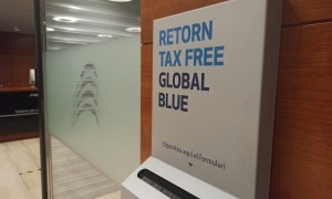Una bústia de Global Blue.