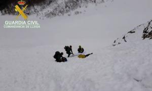 Moment del rescat del muntanyenc.