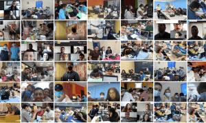 Els participants en la 'hackató' iberoamericana.