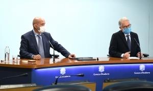 Martínez Benazet i Piqué han explicat aquest matí com serà l'hospitalització domiciliària.re.