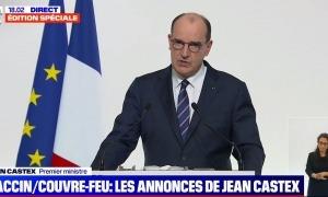 El primer ministre, Jean Castex, en la roda de premsa d'aquesta tarda.