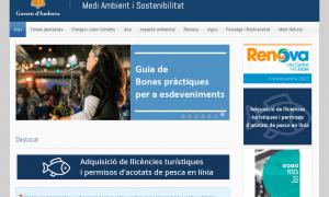 Captura del web de Medi Ambient.