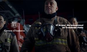 Una imatge del vídeo commemoratiu per celebrar el dia del treballador públic.