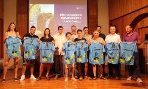 Un moment de l'homenatge als esportistes de la Seu d'Urgell.