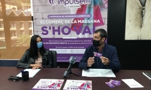 Molné i Garallà durant la presentació de la campanya aquest matí.