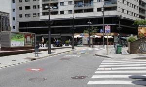 Vista del tram de l'avinguda Verge de Canòlich que serà per a vianants.