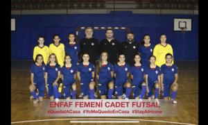 L'Enfaf femení cadet de futbol sala.