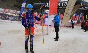 Oriol Olm, a la prova esprint, aquest matí ha competit a la Vertical Race. Foto: FAM