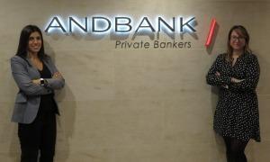 Les noves incorporacions d'Andbank, Nuria Trullas i Maite Navarro.