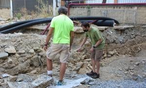 Treballs de delimitació del jaciment arqueològic.