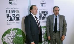 El secretari tècnic de l'EFA, Joan Tomàs i el president de l'entitat, Francesc Mora, en una compareixença anterior.