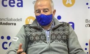 Joan Viladomat en un moment del debat.