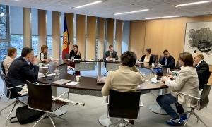 Un moment de la reunió de la junta de presidents d'ahir.