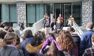 Lectura del manifest que va fer Andorra Feminista el dia de la dona.