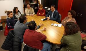 Un moment de la trobada dels parlamentaris liberals amb els representants de les entitats culturals.