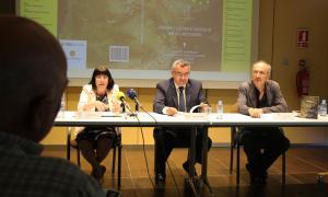 Mach, Moles i Pol, durant la presentació de la 31a Diada andorrana a l'UCE.