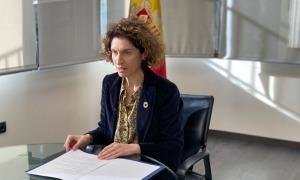La ministra d'Afers Exteriors, Maria Ubach, durant la seva al·locució al CDH de l'ONU.