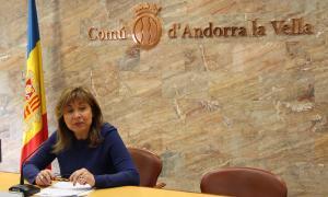 ANA/ La cònsol major d'Andorra la Vella, Conxita Marsol, en la roda de premsa en què ha valorat l'informe del Consell d'Europa sobre els poders locals.