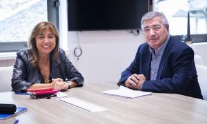 Marsol i Dallerès durant la trobada.