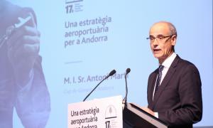 ANA/ El cap de Govern, Toni Martí, durant el discurs de cloenda del 17è Fòrum de l'Empresa Familiar Andorrana (EFA).