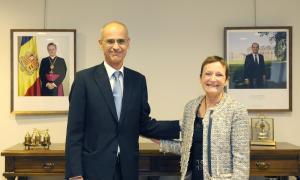 Ginette de Matha s'acomiada del cap de Govern després de dos anys i mig en el càrrec d'ambaixadora
