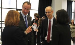 l cap de Govern, Toni Martí, durant la celebració de la Diada dels Agents de Circulació aquest dilluns a la Massana.
