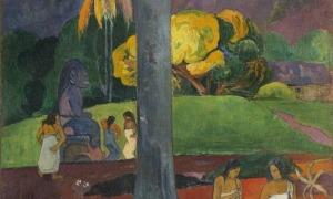 'Mata Mua', de Gauguin (oli sobre tela, 91 per 69 centímetres, 1892).