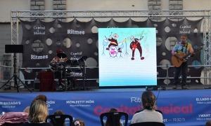n moment de l'espectacle 'Les increïbles històries del Dr. Klüpper', celebrat aquest dilluns a Andorra la Vella.