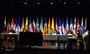 Un moment de la celebració de la quarta Reunió de ministres i altes autoritats iberoamericanes de Ciència, Tecnologia i Innovació.