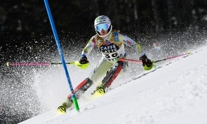 'Mimi' Gutiérrez, als Campionats del Món d'esquí alpí a Cortina d'Ampezzo. Foto: Alain Grosclaude / Agence Zoom