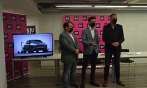 El responsable del Niu d'Andorra Telecom, Miquel Gouarré; el CEO de Lupa, Carlos Álvarez, i el desenvolupador de negoci de Lupa, Isaac Soro.