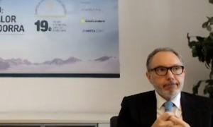 El president de l'EFA, Francesc Mora, en la presentació del 19è Forum de l'Empresa Familiar Andorrana.