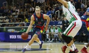 Jaka Blazic durant el matx disputat contra l'Unics Kazan de la temporada passada.