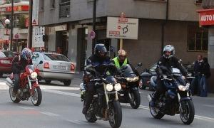 Motocicletes a la via pública.