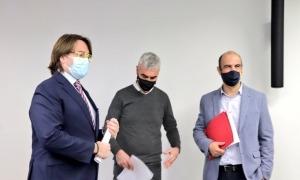 Carles Naudi, Marc Magallon i David Montané aquest matí al Consell General.