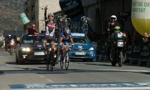 Imatge d'arxiu de la prova ciclista travessant la capital alturgellenca.