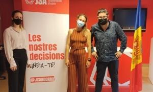 Emma Juan, Maria Nazzaro i Tomàs González, la nova junta de la JSA.