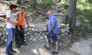 La pedra seca s'ha introduït en els arranjaments.