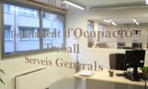 L'oficina del departament d'Ocupació.